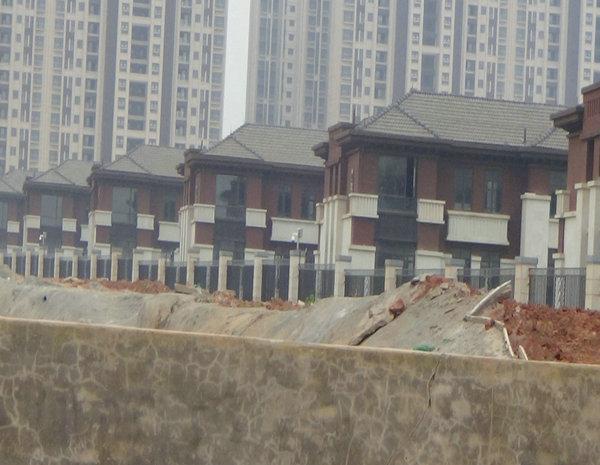 南昌万达文化旅游城B区别墅群已完工待验收